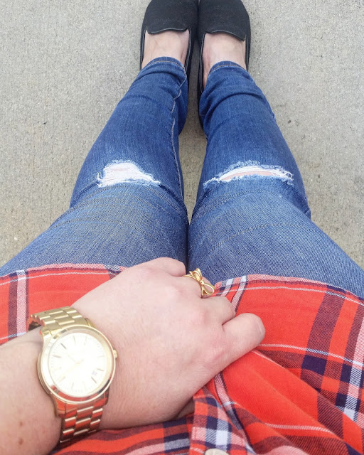 The perfect orange plaid flannel