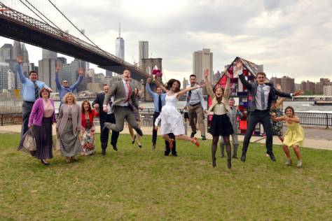 Everybody Jumping - Brooklyn Bridge Park Bridal Party