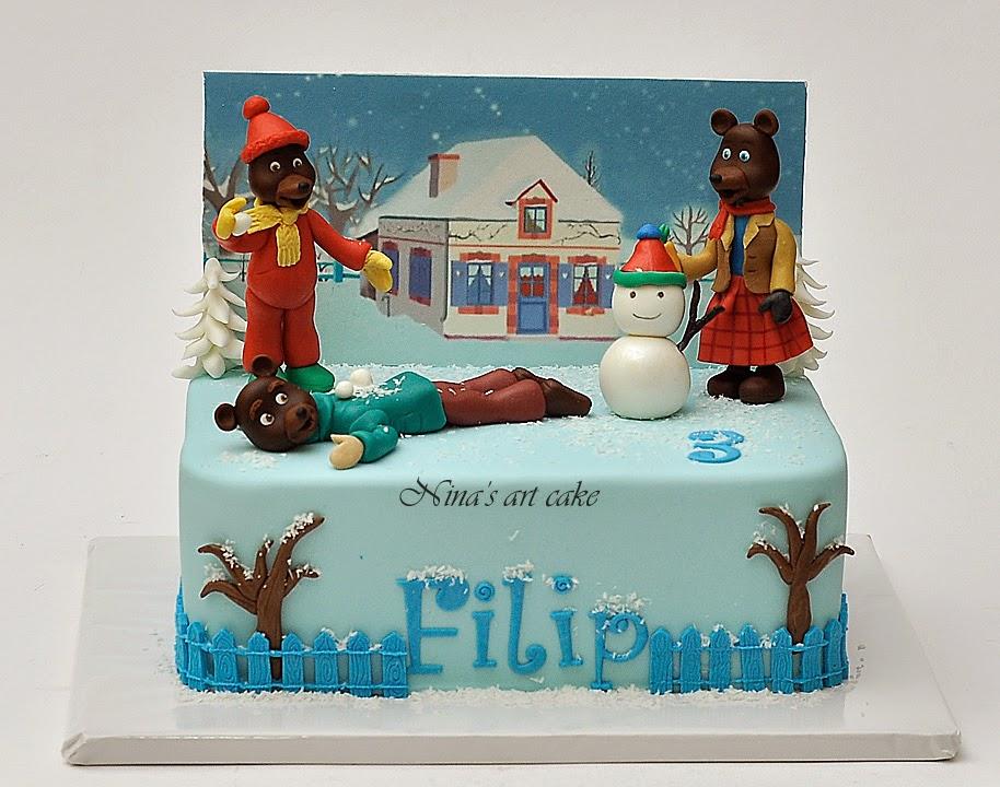 """Tort """"Petit urs brun"""" pentru Filip"""