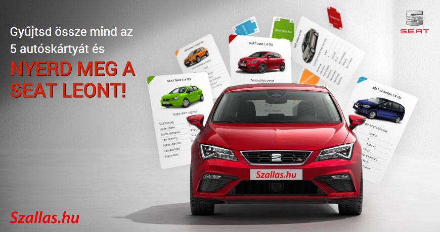 Regisztrálj és válaszolj helyesen, hogy Te nyerd meg a SEAT Leont vagy a többi nyereményt!