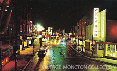 Downtown Moncton in the 60's