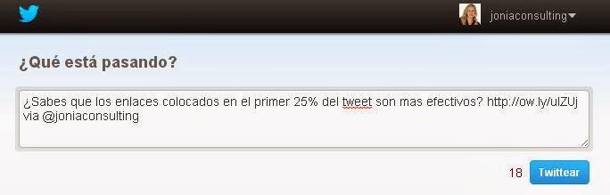 Creacion de Tweet de forma automática a través de Click to Tweet. Esmeralda Diaz-Aroca