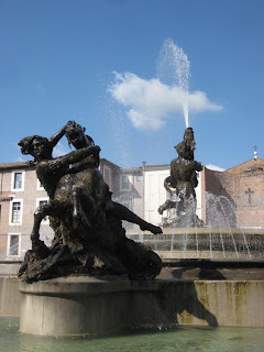 Fountain of the Naiads in the Piazza della Repubblica.