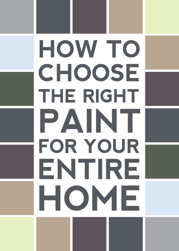 how to choose the right paint for your entire home.