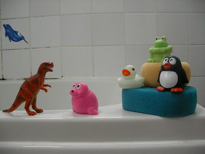 selection of bath toys