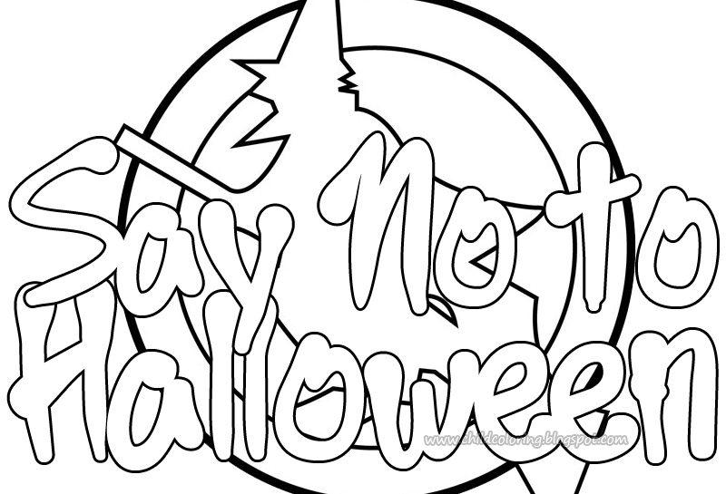 printable religious halloween coloring pages - photo#12