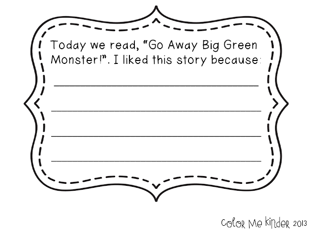 It's just a photo of Exhilarating Go Away Big Green Monster Printable Book