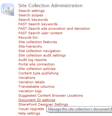 how to get document id in sharepoint 2010