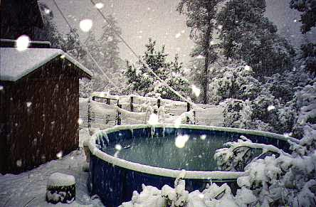 pool of snow photo image