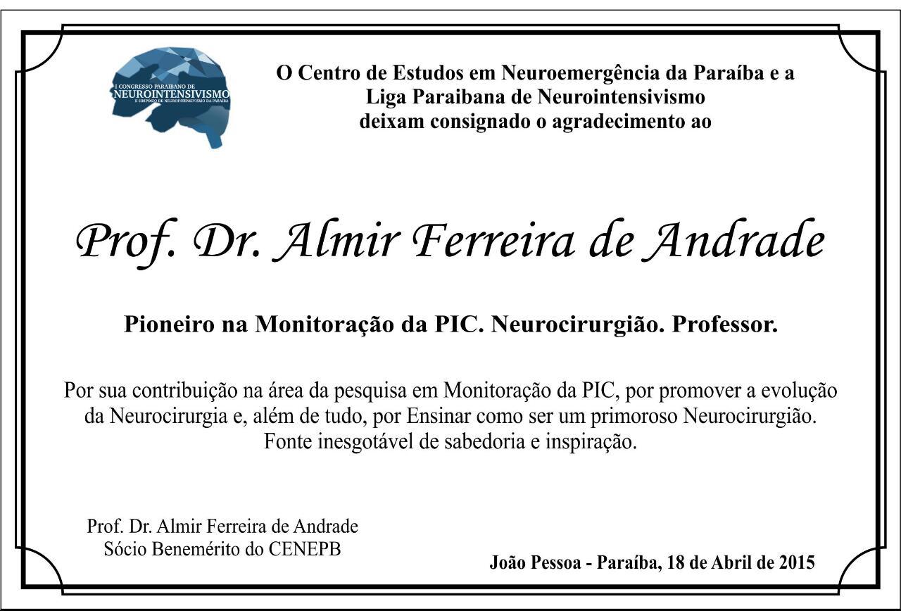 Homenagem Prof. Almir Ferreira de Andrade