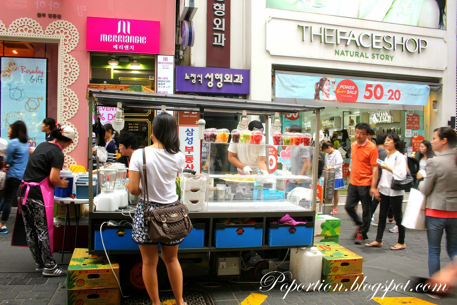 fruit juice stall korea