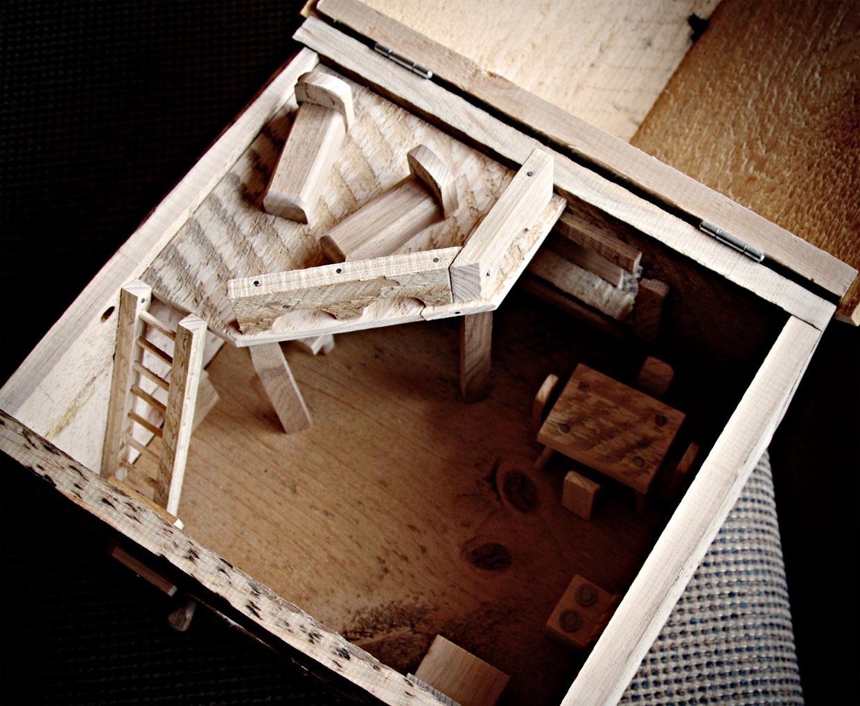 Homemade Wooden Dollhouse Bernier Isms Random Thoughts