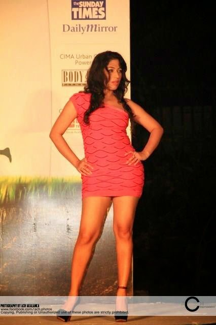 Anusha Rajapaksha legs on ramp