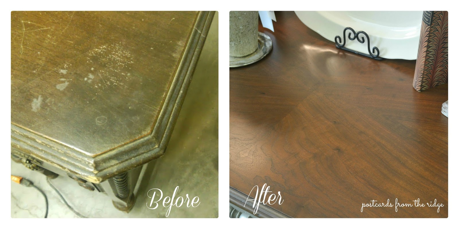 How To Refinish Wood Furniture Postcards From The Ridge
