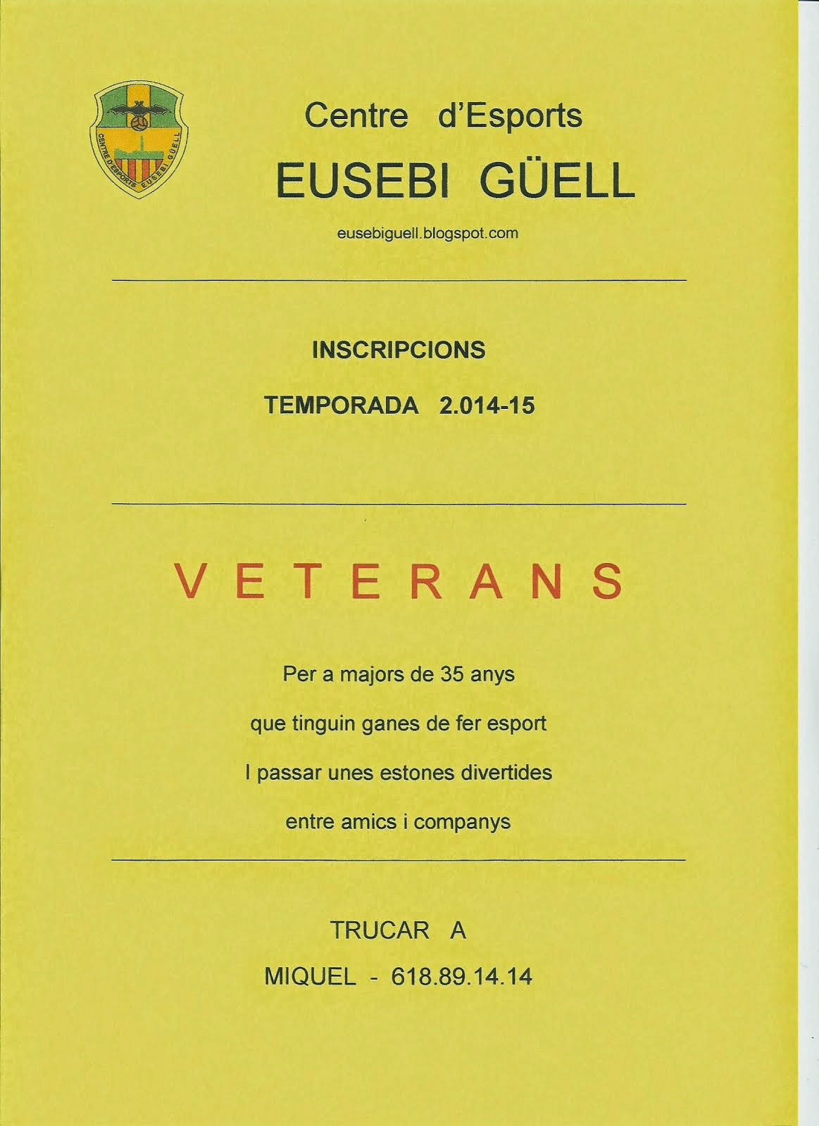INSCRIPCIONS  VETERANS