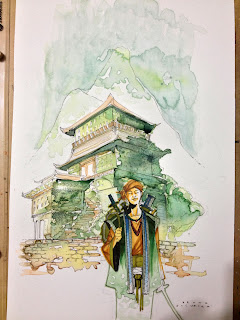 This was one of the first attempts of combining Watercolor and Copic markers in a commission. Done by Bruno Oliveira markers