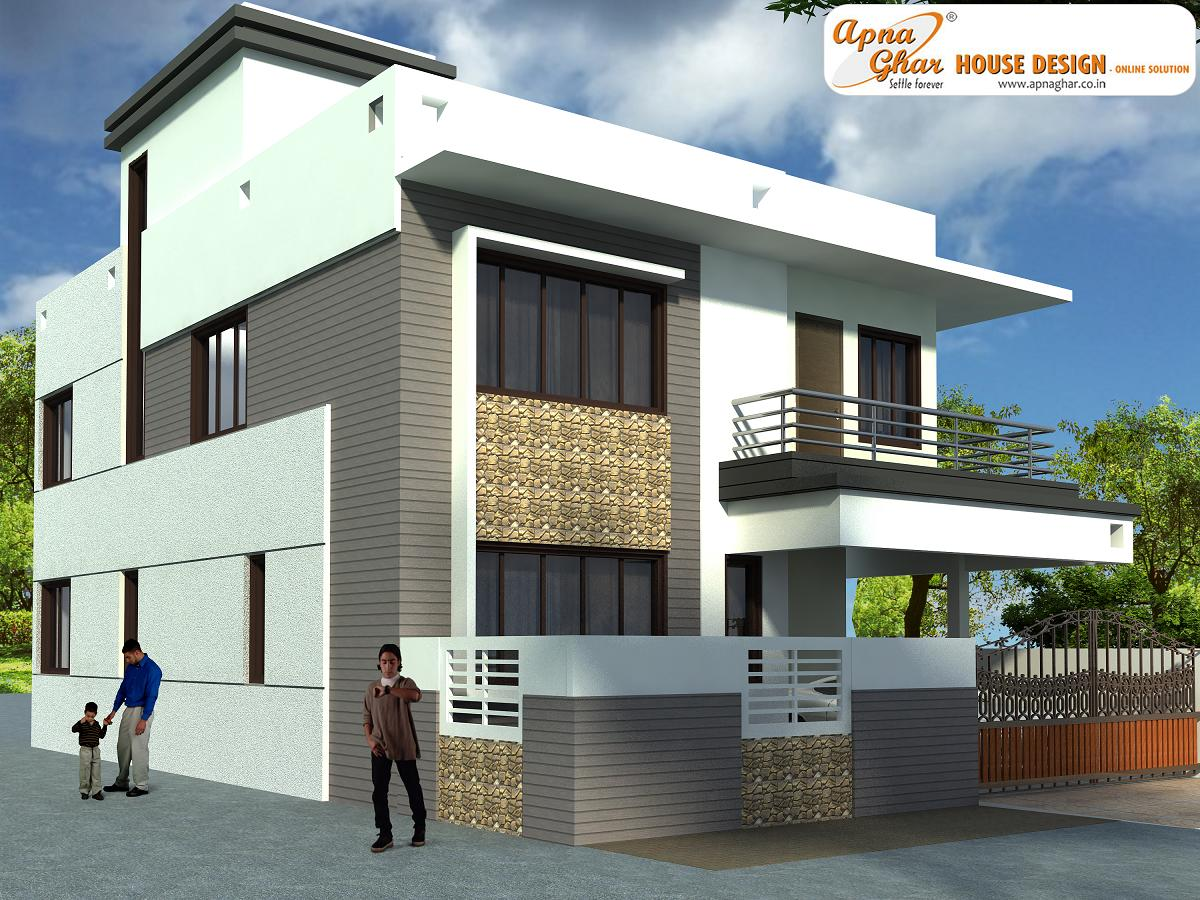 Modern beautiful duplex house design country home design for Duplex house designs interior