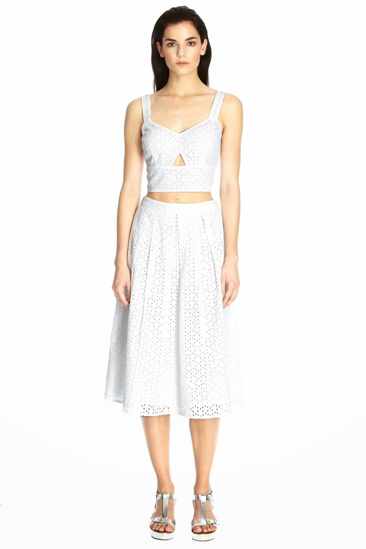 warehouse white skirt