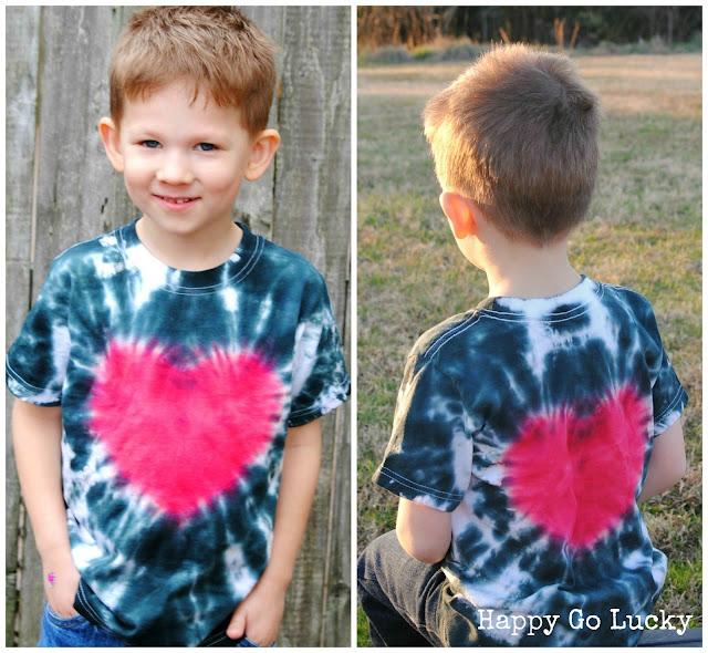 tie-dye heart t-shirt