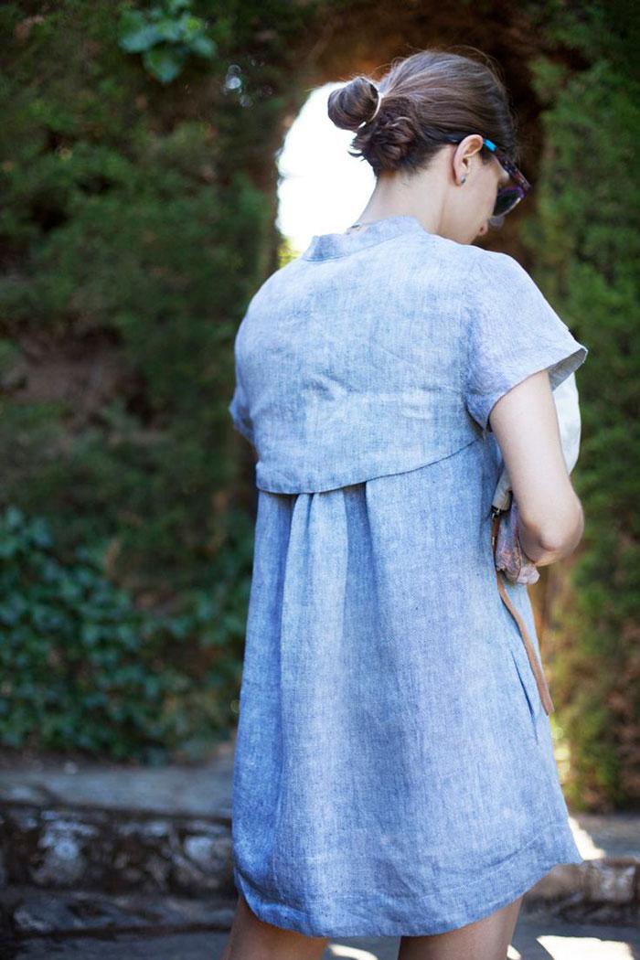 Camisola Marnie Blue edición especial color B a la moda vestido camisero tela vaquera rebajas la bocoque