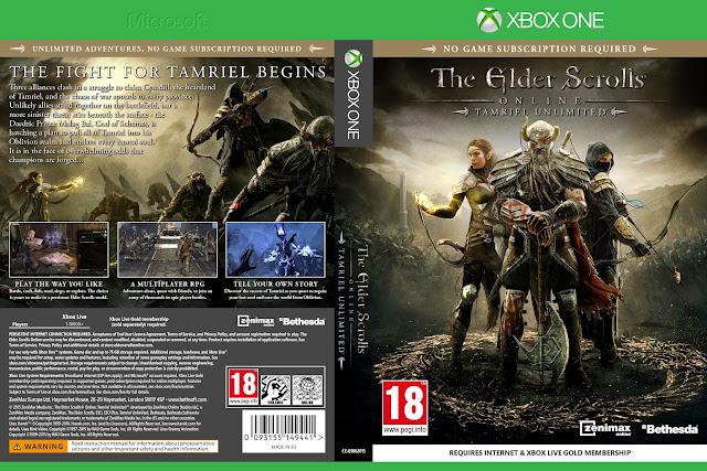 Capa The Elder Scrolls Online Tamriel Unlimited Xbox One