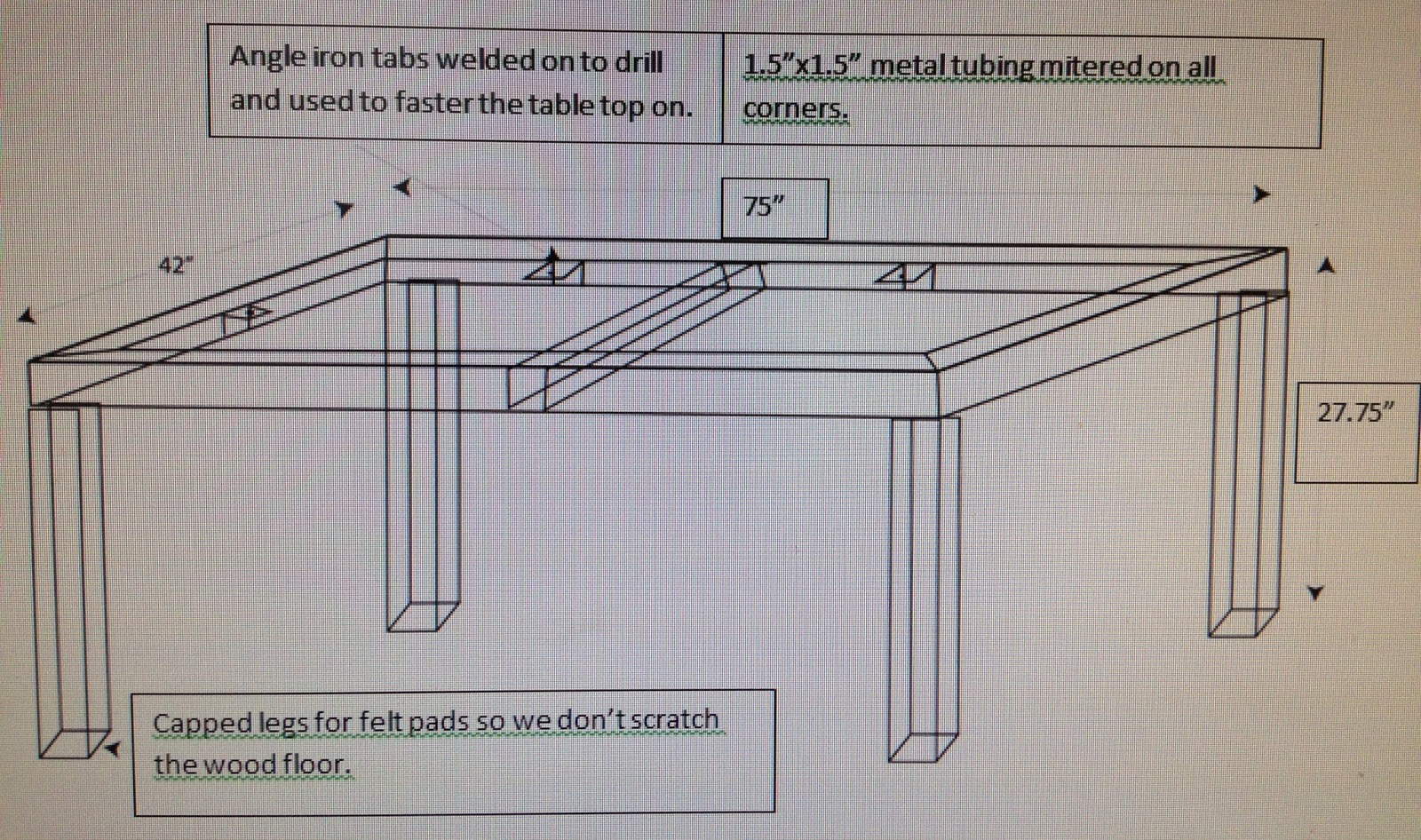 Welding table plans trendy woodworking plans can crusher for Plan fabrication table