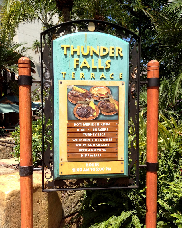 Thunder falls terrace island 39 s of adventure exploring for Terrace on the park menu