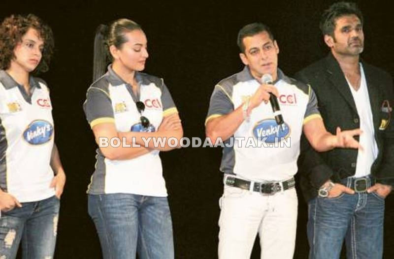 , Sonakshi, Kangana At Celebrity Cricket League Event