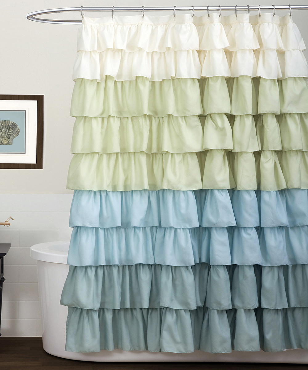 anthropologie shower curtain flamenco ruffle shower curtain