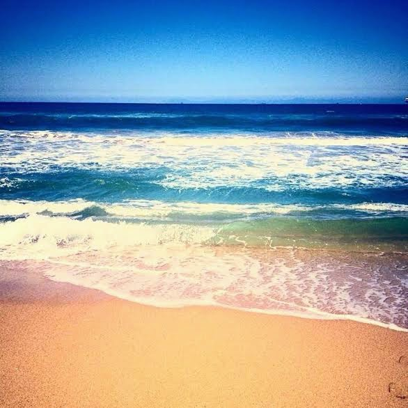 Pacific Ocean Surf and Sand