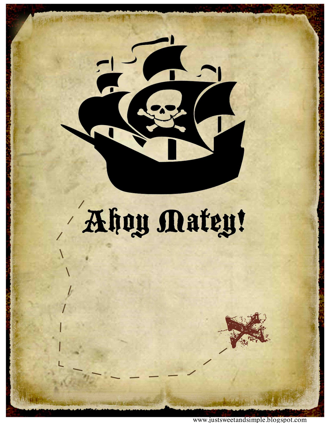 just Sweet and Simple: Pirate Party Invitations