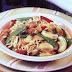 Receta de tallarines con pollo y verduras