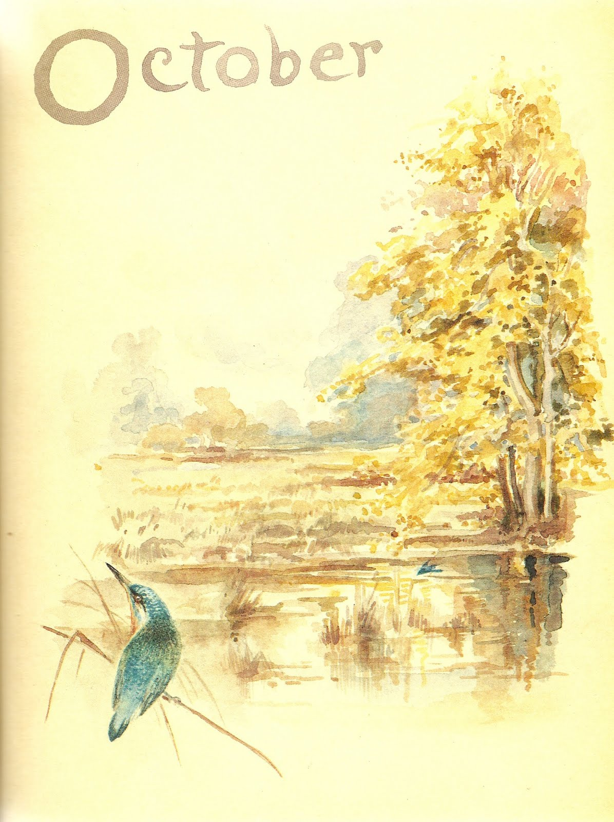 October by Edith Holden