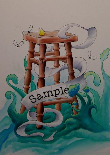 Stool Sample Acrylic Painting