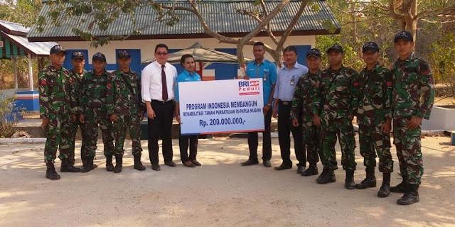 TNI AD dan Bank BRI Kerjasama Rehabilitasi Taman Perbatasan