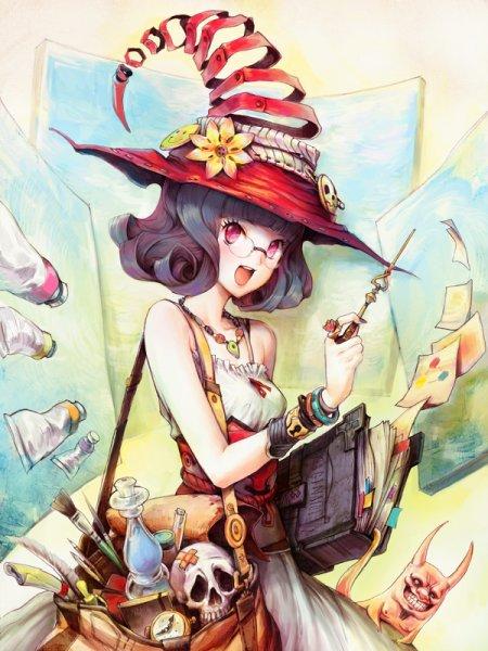 Patipat Asavasena asuka111 deviantart ilustrações garotas
