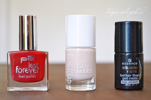 Nagellack P2 open your heart Catrice 020 Cotton Candy At Eiffel Tower essence top sealer
