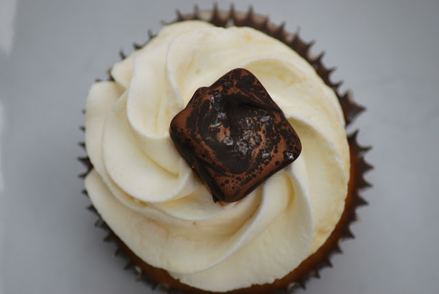 ... recipes: Browned Butter Pumpkin Cupcakes with Salted Caramel Frosting