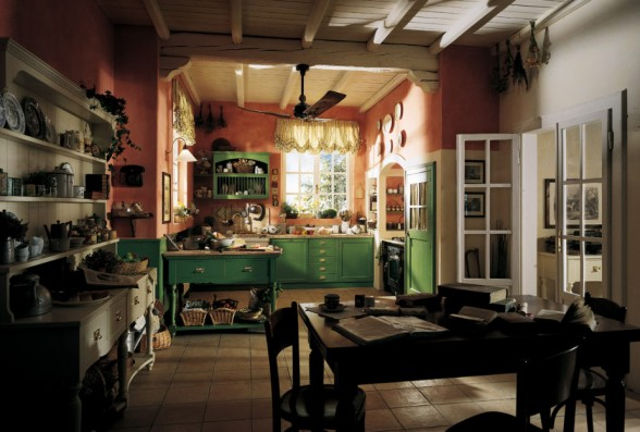 Decoracion de Interiores: Decoracion de Cocinas Tipo Country Vaqueros