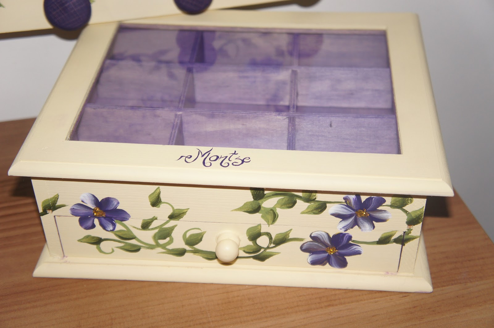 Artesania abona cajas con flores pintadas a mano - Cajas decoradas a mano ...