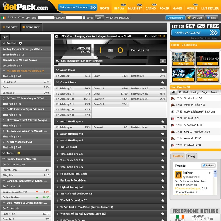 BetPack Live Betting Offers