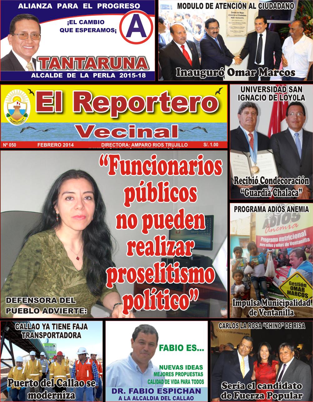 """PERIÓDICO """"EL REPORTERO VECINAL"""" Nº 50"""