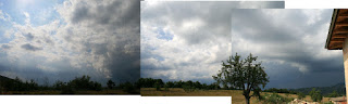 From blue sky round to dirty thunderstorm black