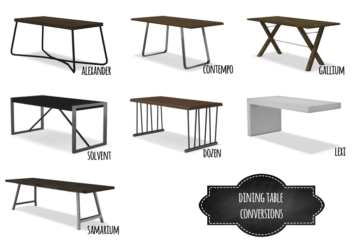 DINING TABLE CONVERSIONS