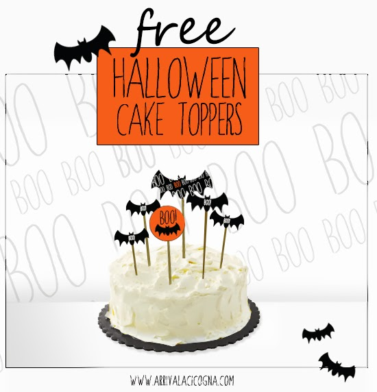 freebies halloween cake toppers