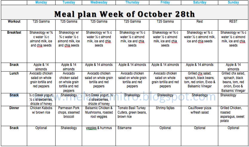 30 day meal plan to lose weight