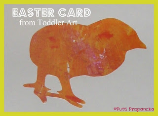 Easter Cards from kids scribbles