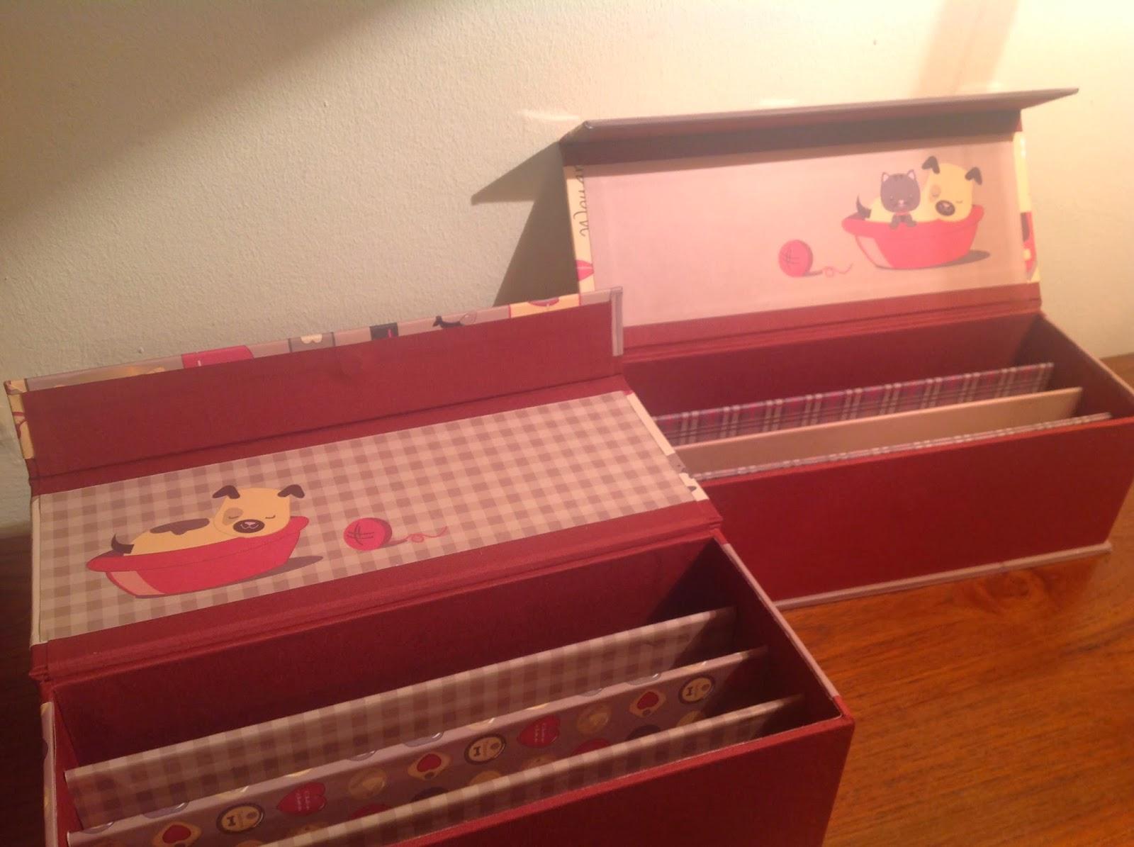 De cart n y trapo cajas para guardar tijeras for Cajas decorativas para almacenar
