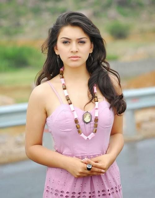 Hansika Motwani in Pink Dress