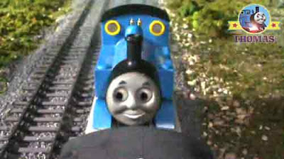 No joke for James the red tank engine stranded on the line Thomas tries his best to look forward